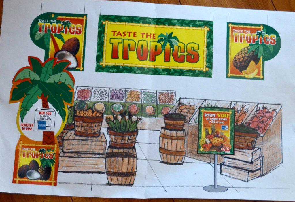 Taste the Tropics Fruit Signage