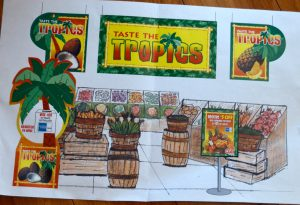 Taste the Tropics Fruit Signage
