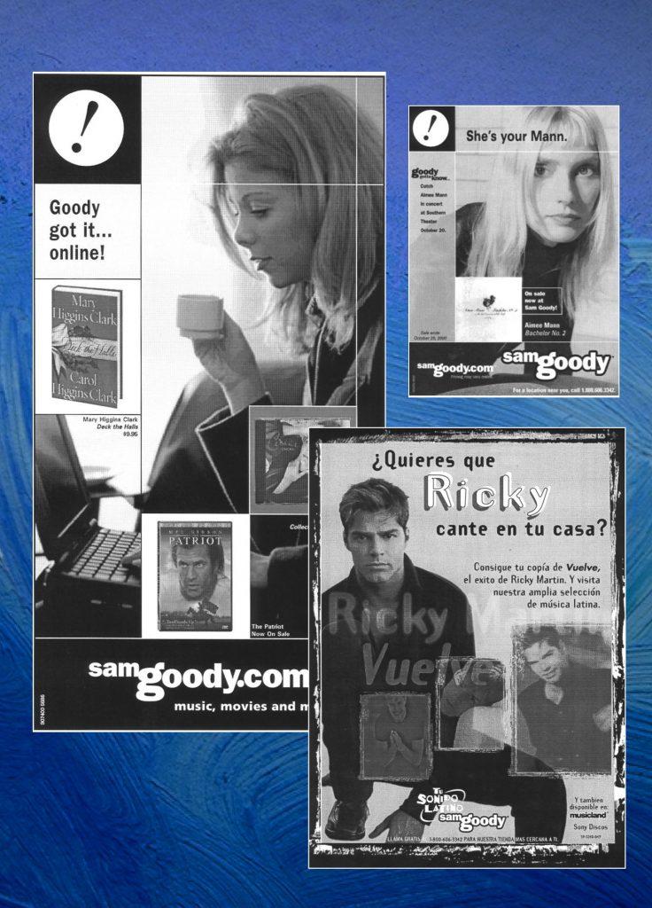 Sam Goody newspaper advertising