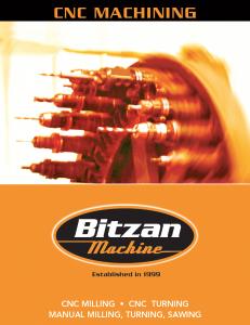 Bitzen Machining Brochure