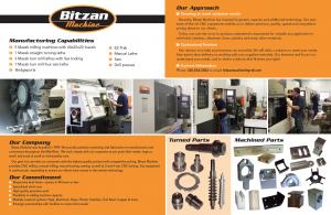 Bitzen Machining Brochure & Photography