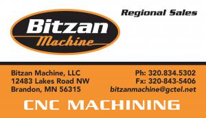 Bitzen Machining Logo and Business Card