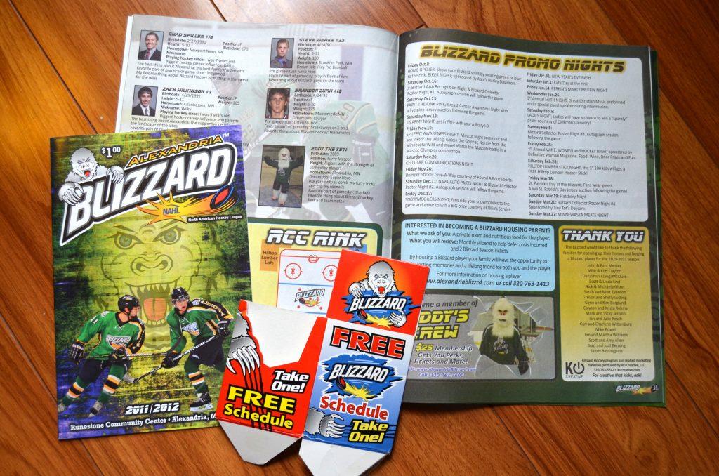 Blizzard Program and schedule holder
