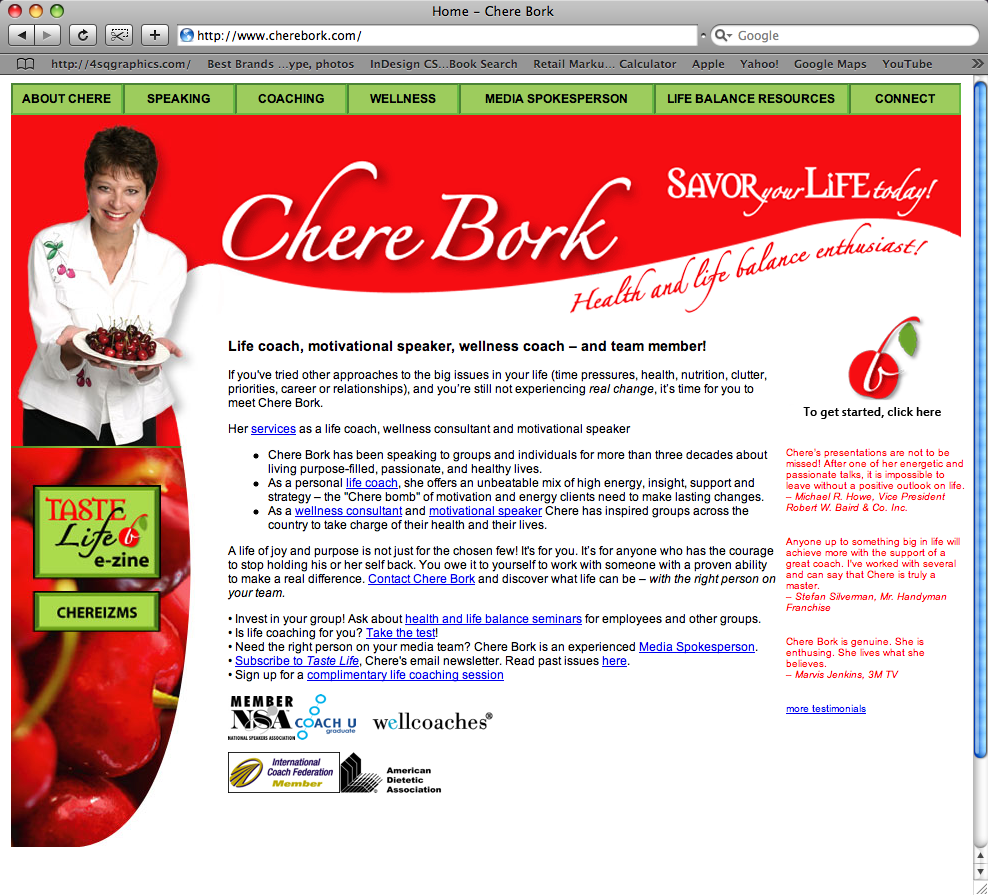 Chere Bork website