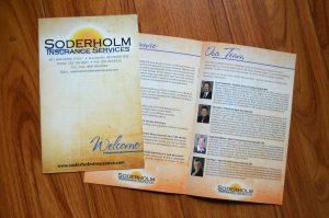 Soderholm Insurance Brochure