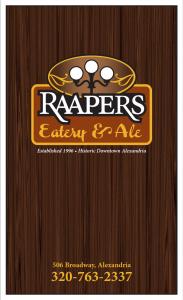 Rappers Restaurant Logo Menu