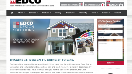 edco products page graphic design